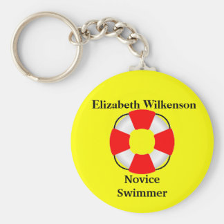 Life Vest Attachment-Name-Swim Skill Keychain