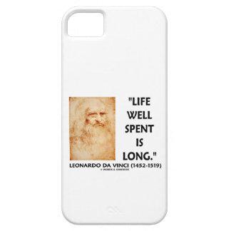 Life Well Spent Is Long Leonardo da Vinci Quote iPhone SE/5/5s Case