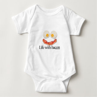 Life with Bacon Baby Bodysuit