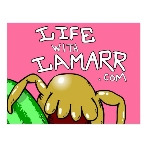 'Life with Lamarr' postcard