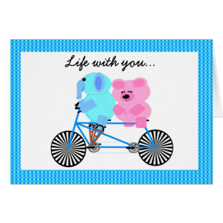 Life with you is a joyride greeting card