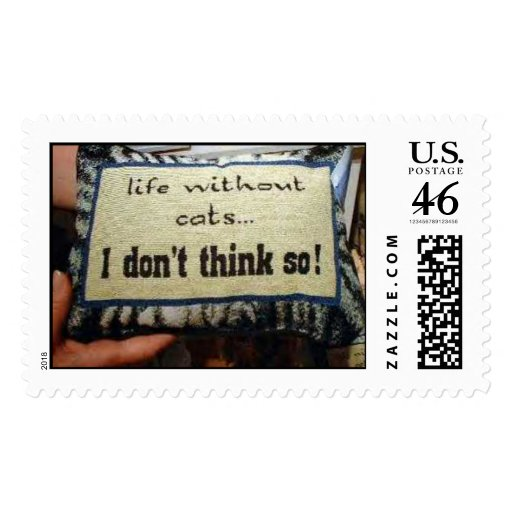 Life without cats postage stamp