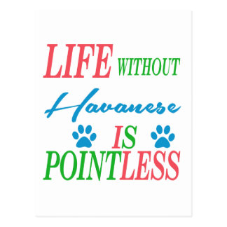 Life without Havanese is pointless Postcard