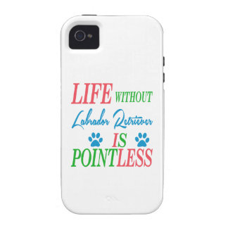 Life without Labrador Retriever is pointless iPhone 4 Cover