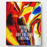 Life without music - Abstract Photo Plaques