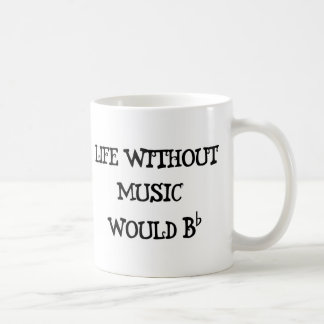 Life Without Music Classic White Coffee Mug