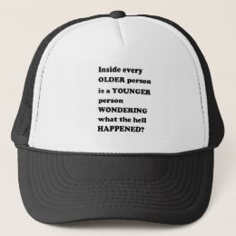 LIFE wonder journey young old vintage thoughts GIF Trucker Hat