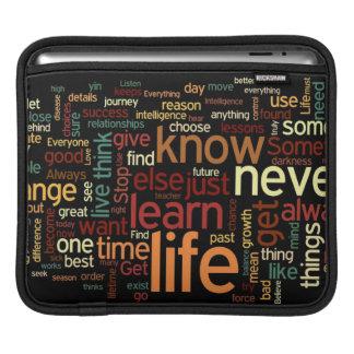 Life Words iPad Sleeve