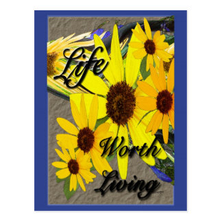 Life Worth Living Postcard