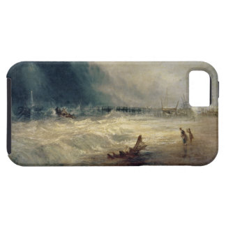 Lifeboat and Manby Apparatus going off to a strand iPhone SE/5/5s Case