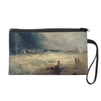 Lifeboat and Manby Apparatus going off to a strand Wristlet Purse