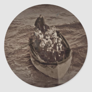 Lifeboat from the RMS Titanic Classic Round Sticker