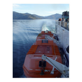 Lifeboat of ferry crossing Cooks Strait postcard
