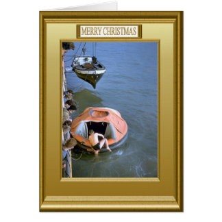 Lifeboat practice from the boat deck card