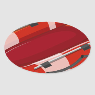 Lifeboat Oval Sticker