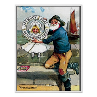 Lifebouy Old Sailor Soap Ad Poster