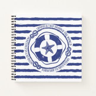 Lifebuoy And Starfish Notebook