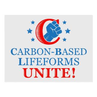 ¡Lifeforms Carbono-basado, une! Tarjeta Postal