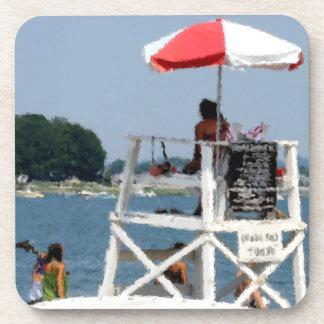 Lifeguard Beach Beverage Coaster