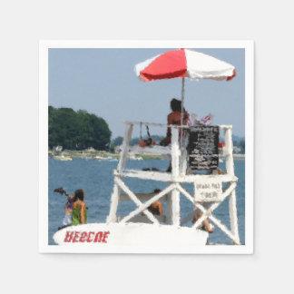 Lifeguard Beach Paper Napkins