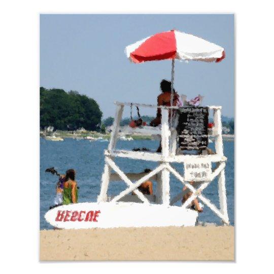 Lifeguard Beach Photo Print
