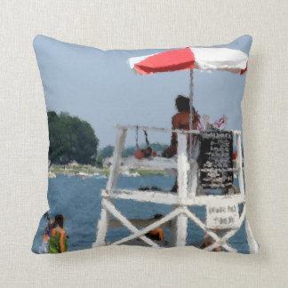 Lifeguard Beach Throw Pillows