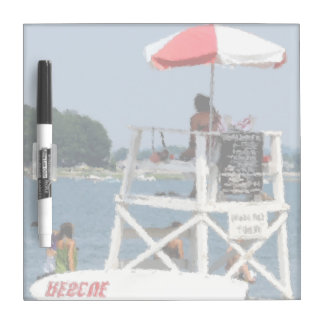 Lifeguard Beach Square Dry-Erase Board