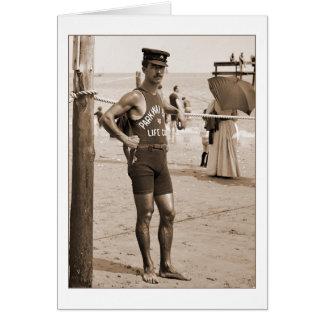 Lifeguard Brighton Beach 1905 Card