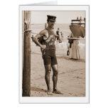 Lifeguard Brighton Beach 1905 Greeting Card