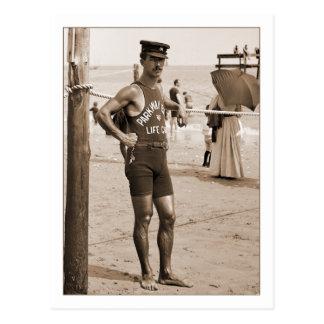 Lifeguard Brighton Beach 1905 Postcard