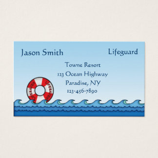 Lifeguard Business Card