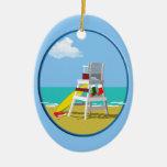 Lifeguard Chair at Christmas Christmas Ornaments