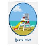 Lifeguard Chair at Christmas Greeting Card