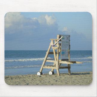 Lifeguard Chair At Folly Mouse Pad