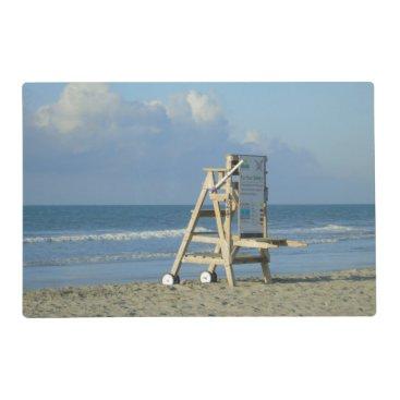Lifeguard Chair At Folly Placemat