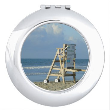 Beach Themed Lifeguard Chair At Folly Vanity Mirror