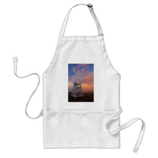 Lifeguard chair with dramatic sky. adult apron