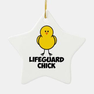 Lifeguard Chick Christmas Ornament