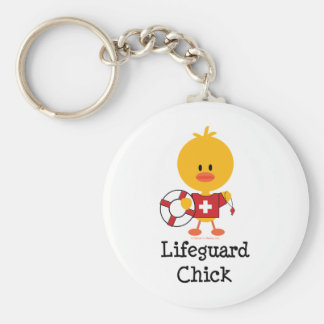 Lifeguard Chick Keychain