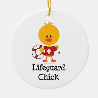 Lifeguard Chick Ornament