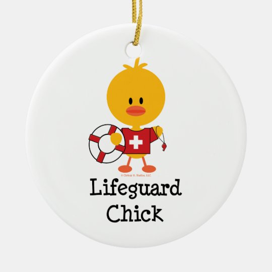 Lifeguard Chick Ornament