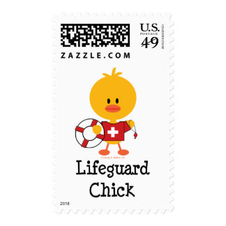Lifeguard Chick Stamps