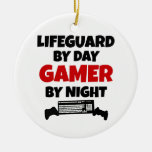 Lifeguard Gamer Double-Sided Ceramic Round Christmas Ornament
