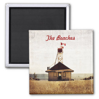 Lifeguard house, the Beaches, Toronto 2 Inch Square Magnet