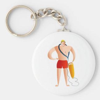 Lifeguard Basic Round Button Keychain