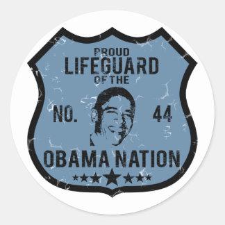 Lifeguard Obama Nation Classic Round Sticker