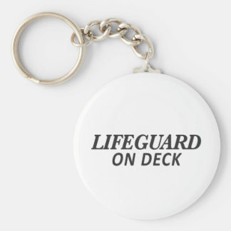 Lifeguard on Deck Print Keychain
