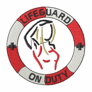 Lifeguard On Duty (f) Embroidered Hoodies