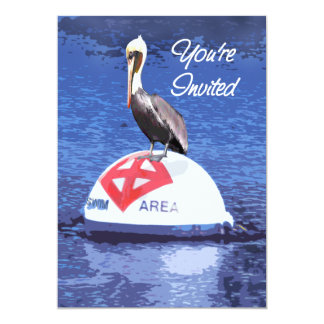 Lifeguard Pelican You're Invited Card