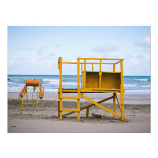 Lifeguard platform photo print